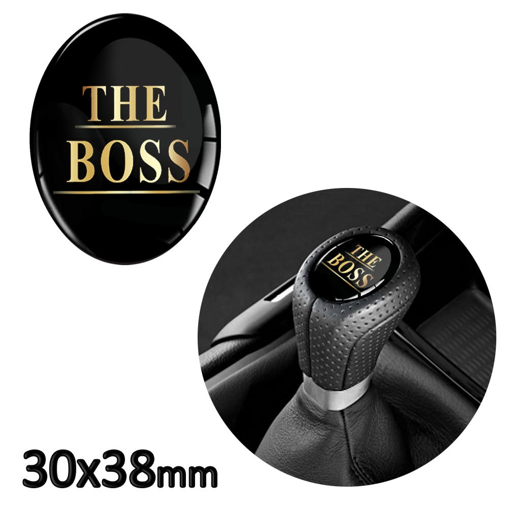 Skino 1 x 3D Silicone Sticker Renovation for Shift Gear Lever Shifter Knob Auto Tuning The Boss JDM S 22