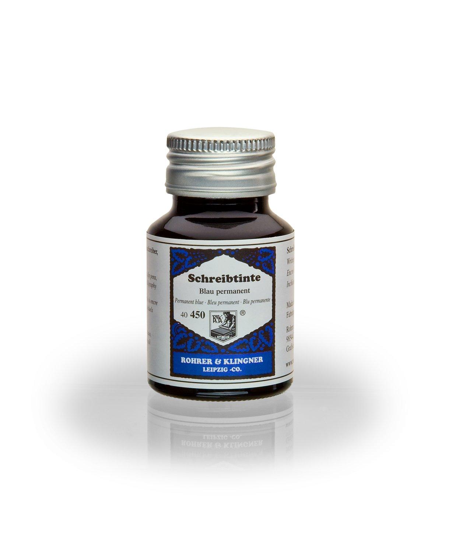 Rohrer & Klingner Writing Ink - 50 ml Bottle - Blau Permanent (Permanent Blue)