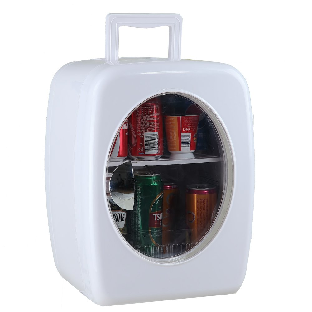 SMETA 12V Portable Compact Car Vehicle Refrigerator Personal Fridge Mini Can Beverage Milk Cooler Food Warmer for Travel Camping,15L,White by Generic (Image #2)