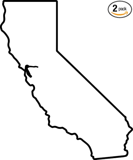 California Map Outline Amazon.com: California Map Outline (Black) (Set of 2) Premium