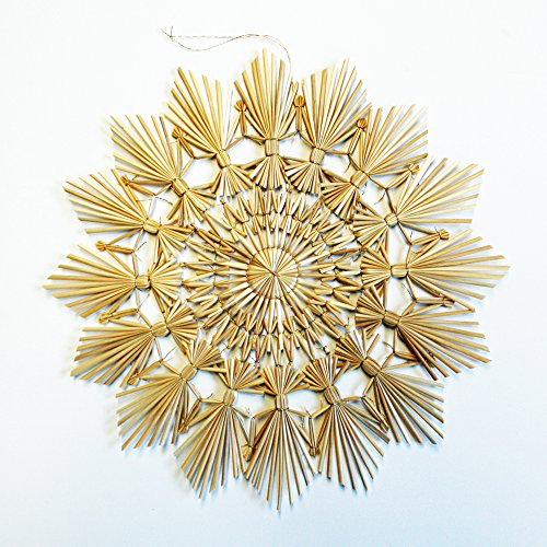 (Large Straw Star Ornament - 10
