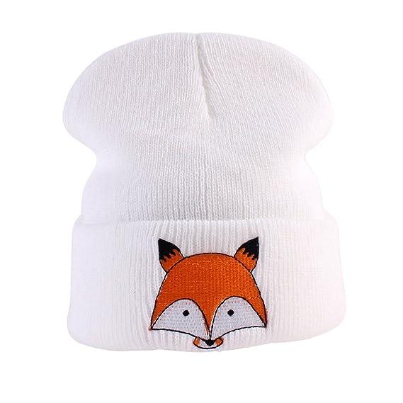 pu ran Niños Niñas Niñas Niños Invierno Tejido Fox Patrón Caliente ...