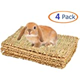 Grass Mat for Rabbit Bunny Chew Toys Woven Bed Mat for Guinea Pig Chinchilla Squirrel Hamster Cat Dog and Small Animal…