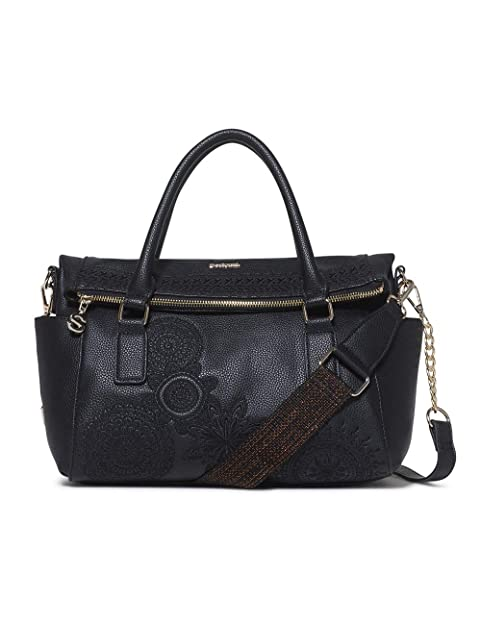 Desigual Bag Dark Amber Loverty Women Carteras de mano con asa Mujer