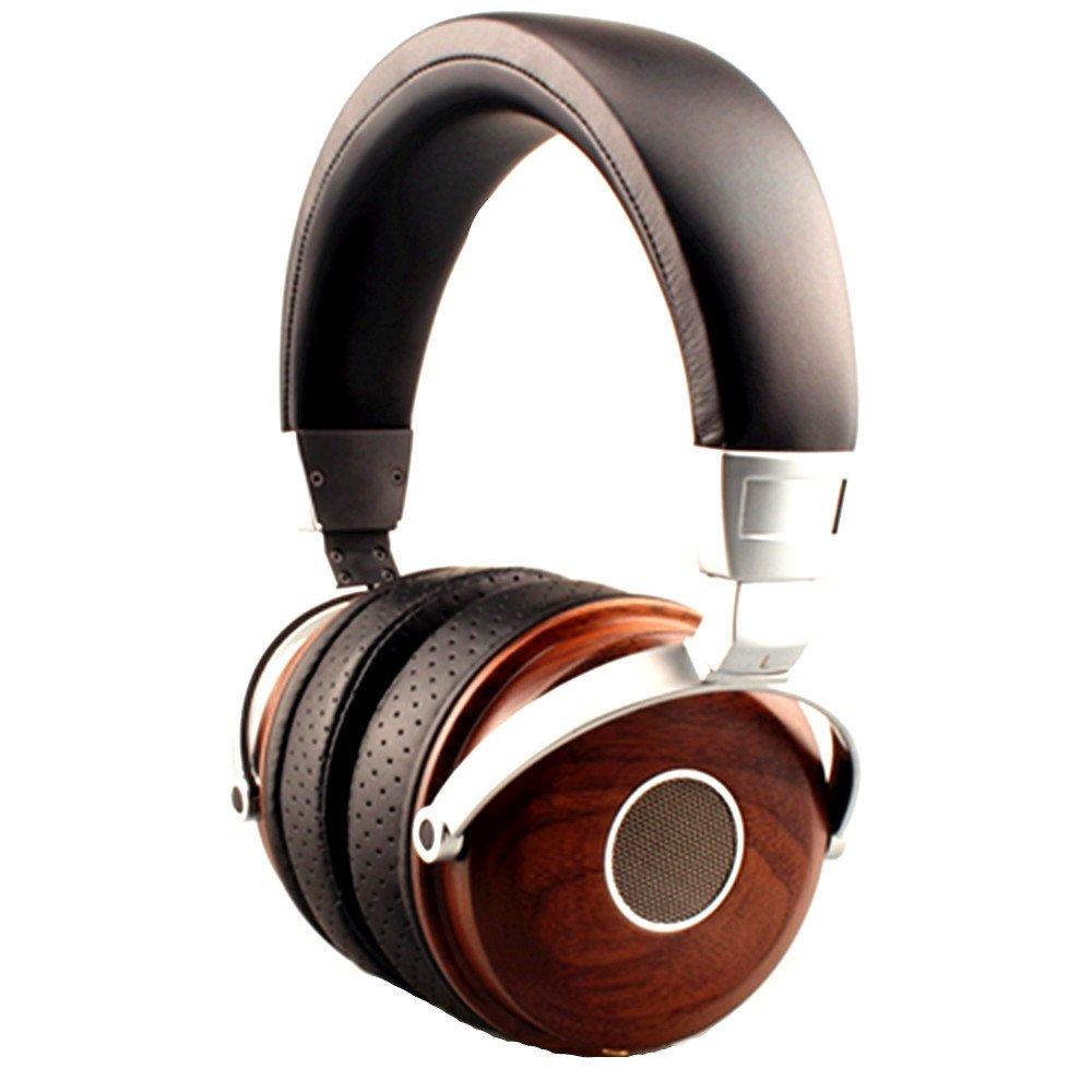 Wood Powerful Bass Dynamic&Balance Armature Hybrid 5 Drivers Over Ear Headphone (DT-400)