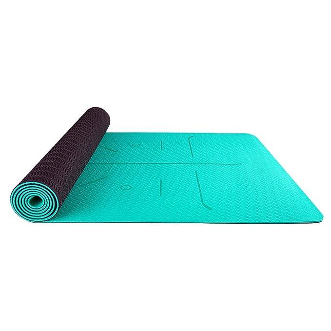 Amazon.com: Alfombrilla antideslizante de yoga TPE para ...