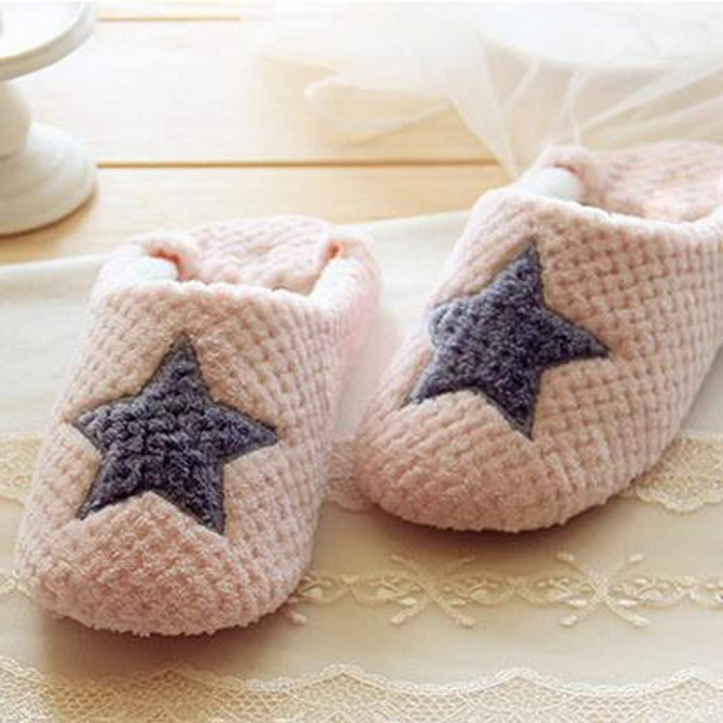 Nafanio Cute Winter Slippers Women Home Indoor Bedroom House Soft Bottom Cotton Warm Shoes Adult Guests Flats