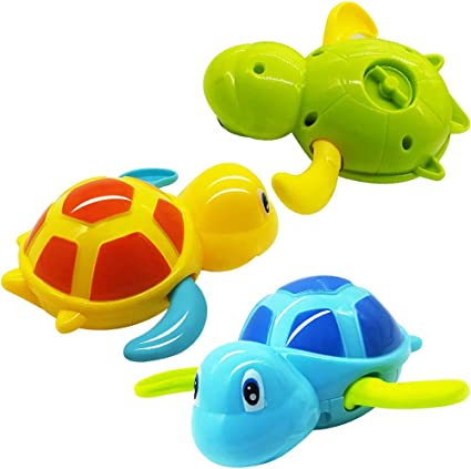 Bath Toys Pool Swimming Turtle for Toddlers Kids Wind-up Clockwork Pack of 6//9 C