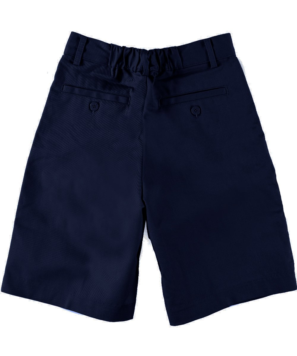 Boys Pleated Front Shorts w/ Hook and Eye Closure by Universal Schoo- Sku:Staniu680NAV5; Color:NAVY; Size:5 5