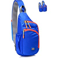 Lecxci Outdoor Chest Sling Bag Lightweight Waterproof Backpack for Kid/Man/Women