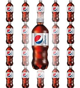 Diet Pepsi Soda, 20oz Bottle (Pack of 20, Total of 400 Fl Oz)
