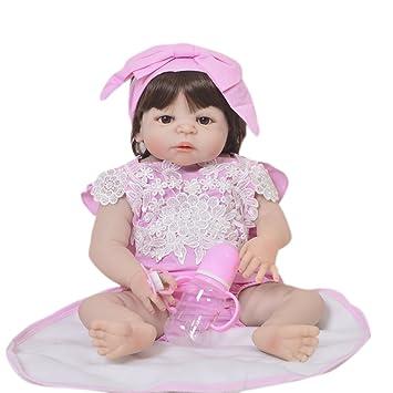Capelli Doll pieno lunghi Girl Keiumi 4 Reborn Silicone 58 cm Baby UzGSLMVqp