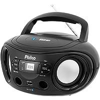 Micro System Philco Bombox Pb122bt, Bluetooth, Usb, Entrada Auxiliar - Preto
