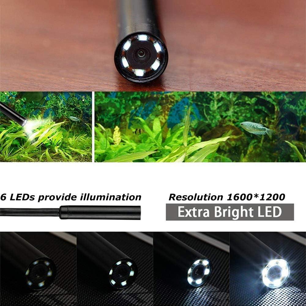 WangT 8.5mm Wireless Snake Camera,5.0 Megapixel HD Endoscope IP67 Waterproof Inspection Camera-for Industrial,plumbing Repair,Hardwire-2M