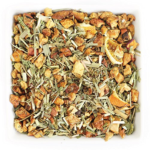 (Tealyra - White Citrus Vanilla - Green Rooibos - Lemongrass - Lemon Verbena - Herbal Loose Leaf Tea - Calming and Relaxing - Caffeine-Free - 112g (4-ounce))