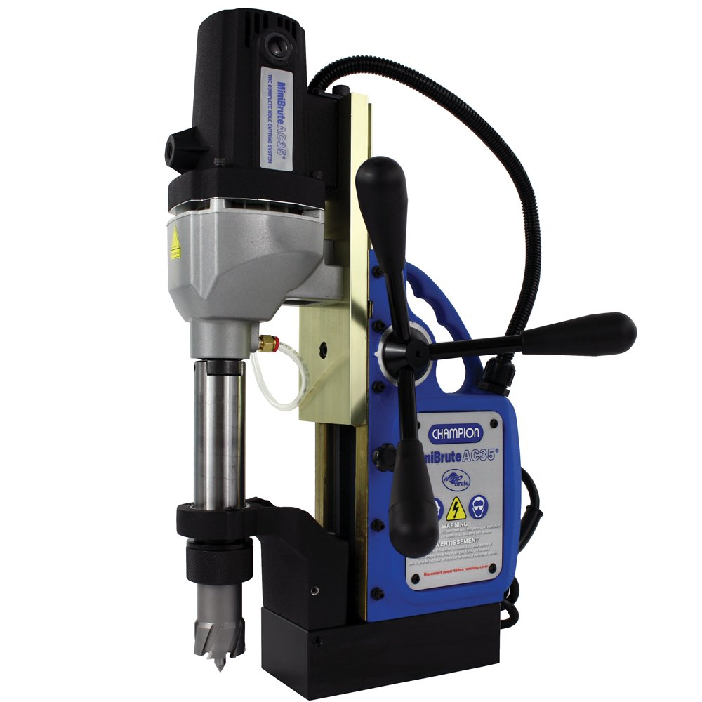 Champion Cutting Tool RotoBrute AC35 MiniBrute Lightweight, Portable Magnetic Drill Press: Up to 1-3/8'' Diamater, 2'' Depth of Cut