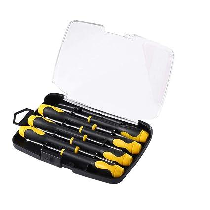 Precision Screwdriver Phillips Flathead Magnetic Tips Non-Skid Repair Tool Set 7