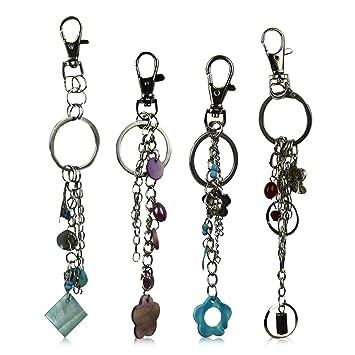 6 x Llavero Suerte perlas decorativas suerte Llave cadena ...