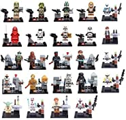 24Pcs Building Blocks Super Heroes Star Wars Darth Vader Stormtrooper Clone Trooper Yoda Minifigures Toys Compatible With Lego