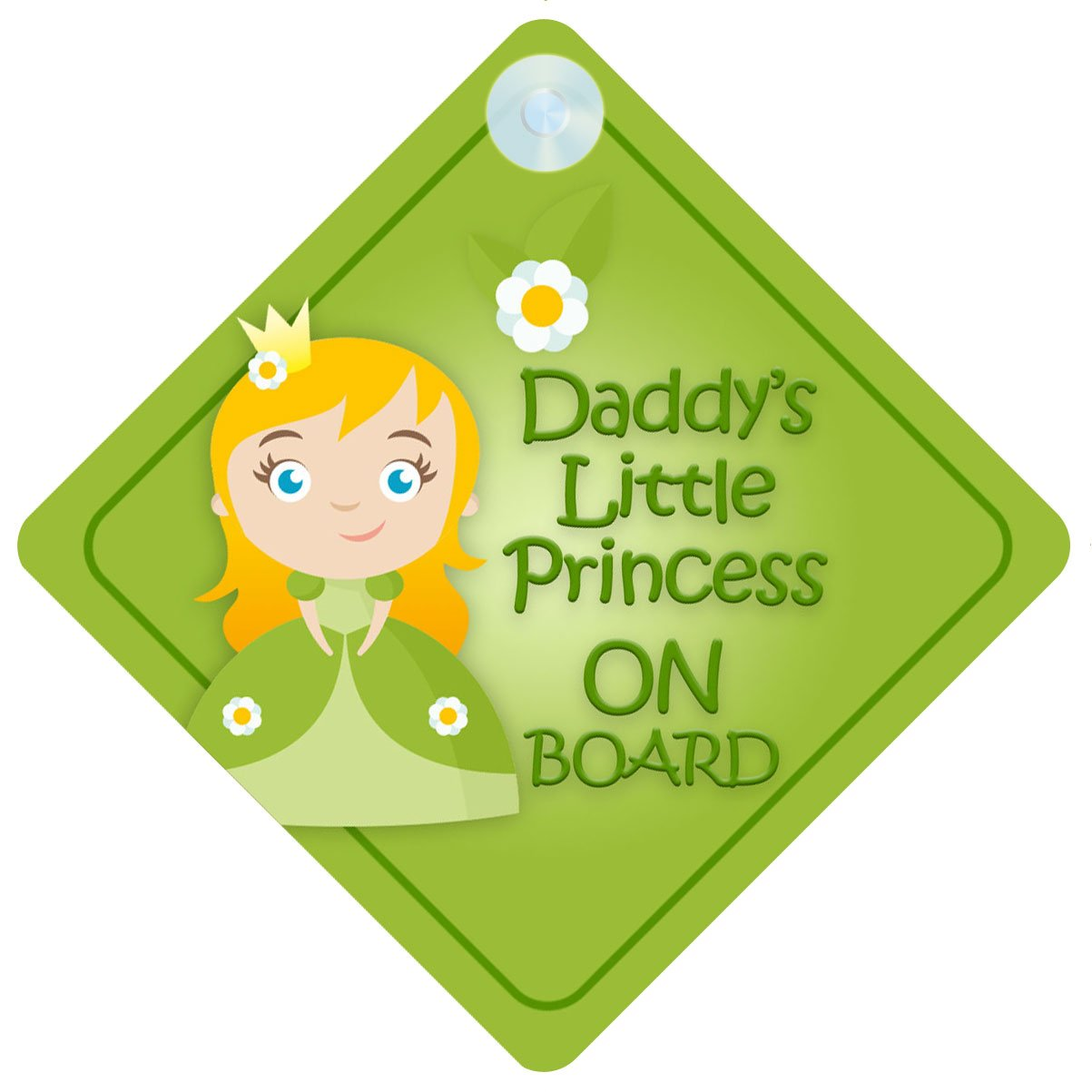 DLP008 Daddy's Little Princess On Board Car Sign New Baby / Child Gift / Present / Baby Shower Surprise by mybabyonboard UK   B00IOS3VWY