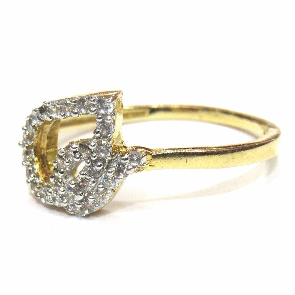 f4ea4de97783 jewelshingar joyas American Diamante Anillo en color dorado para mujeres  (22520-ring-20)  Amazon.es  Joyería