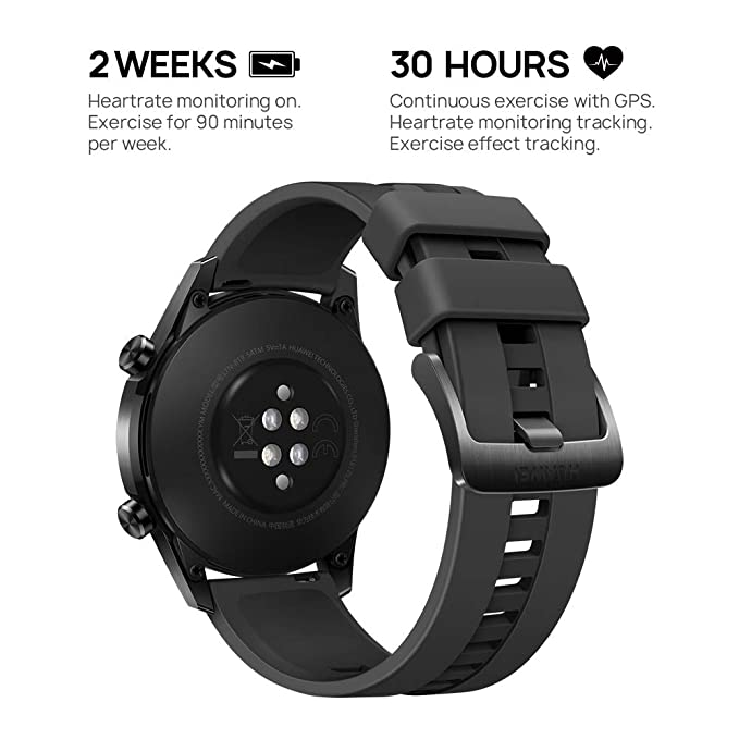 Huawei Watch GT 2 Sport - Smartwatch con Caja de 46 mm, 2 Semanas de Uso, Pantalla Táctil AMOLED de 1.39