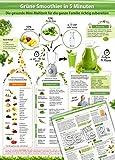Grüne Smoothies in 5 Minuten (2018) -Intuitive Anleitung um die gesunde Mini-Mahlzeit für die ganze Familie richtig zuzubereiten - (DINA4 - 2 Seiten - ... praktisch, abwischbar und blätterfrei)