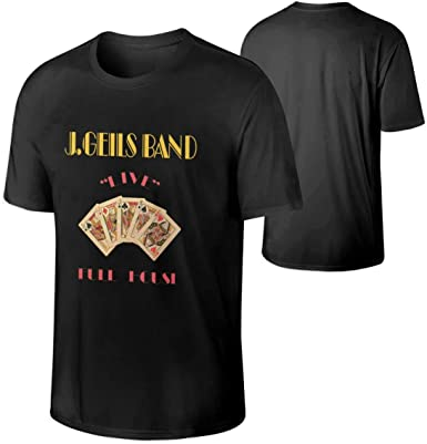 J. Geils Band Full House Algodón en Vivo Camiseta para Hombre ...