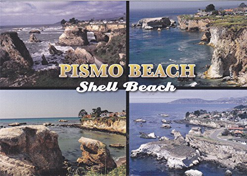 LOMP-CC201 Beautiful scenes of shell Beach, Pismo Beach, CALIFORNIA POSTCARD .. from - Pismo Beach Stores