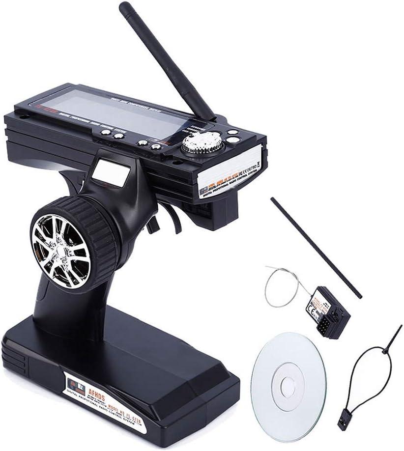 Alftek FS-GT3B 2.4G 3CH - Transmisor teledirigido de radio para botes y coches a control remoto (3 canales)