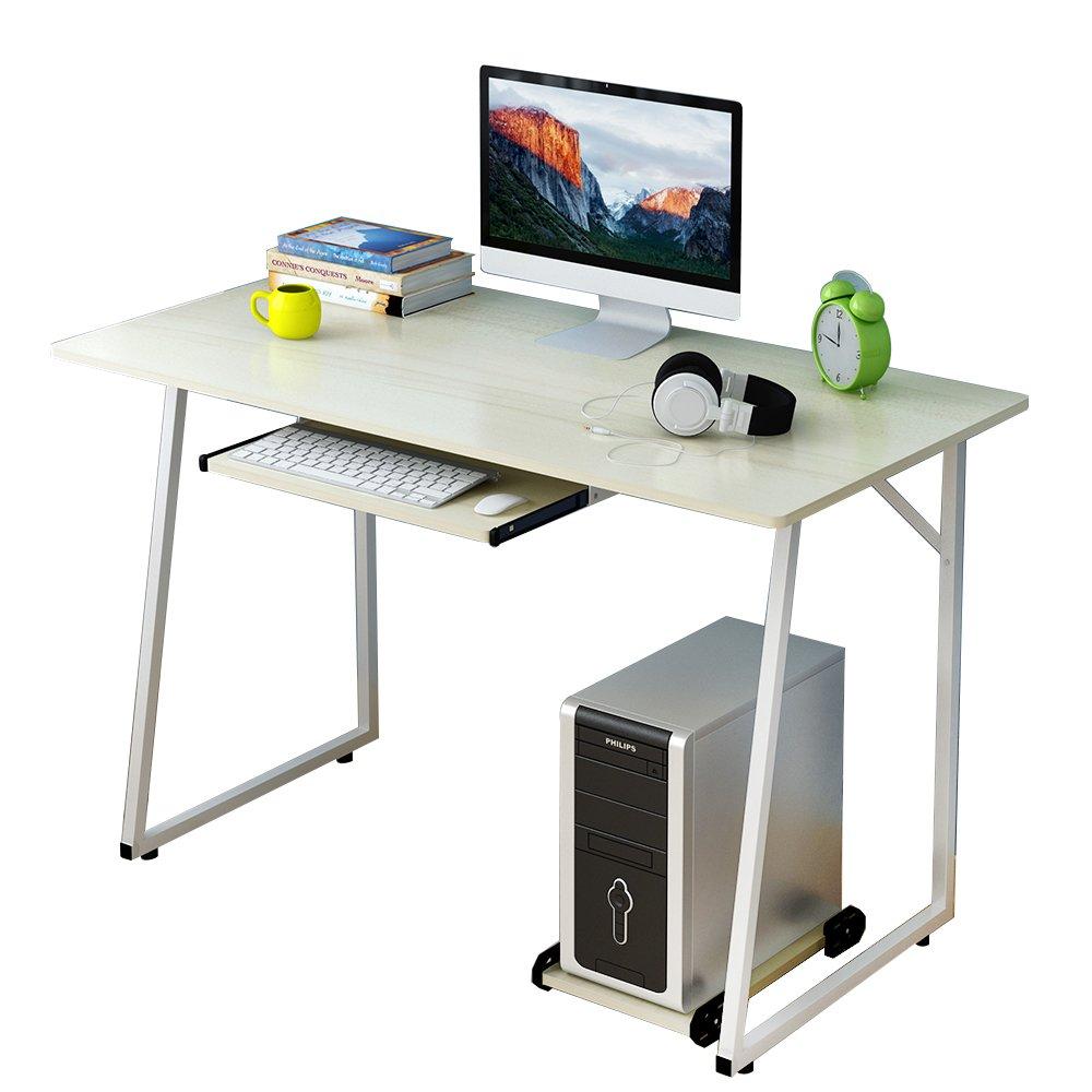 soges Escritorio de 120x60cm Mesa de Ordenador Mesa Compacta y ...