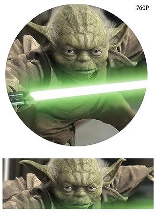 Star Wars Yoda 19 1 Cm Zoll Rund Essbaren Kuchen Topper Bedruckt