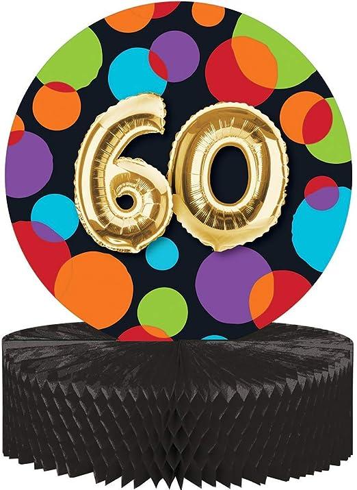 Party Central Juego de 6 centros de Mesa para 60 Cumpleaños, Color ...