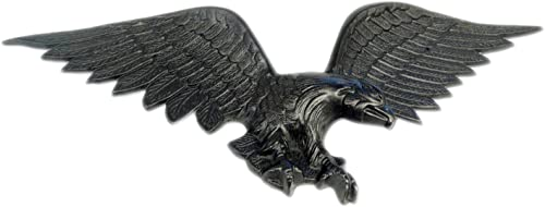 Grandview Aluminum Cast Aluminum American Eagle Wall Decoration/Sculpture/Plaque 2812 28.5″ Wingspan Black