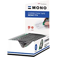 Tombow Mono CT-YT4 - Cinta correctora (10 unidades, caja transparente, 4 mm x 10 m)