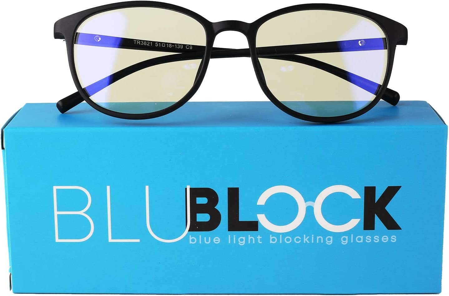 Unisex Blue Light Blocking Glasses - Anti-Blue Filter Eyeglass for Men and Women - Stylish Eyewear Comfortable Eye Protection for UV Glare - Perfect for Laptop, Computer or Cellphone   by BluBlock