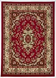 Cheap Antep Rugs Kashan King Collection Himalayas Oriental Polypropylene Indoor Area Rug (Maroon/Beige, 5′ x 7′)