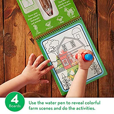 Melissa & Doug On The Go Water Wow! On The Farm: Toy: Toys & Games