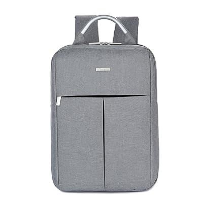 best YiYiNoe Ultralight Oxford Business 15.6 inch Laptop Backpack Waterproof School Bag Rucksack for Men Boys Grey