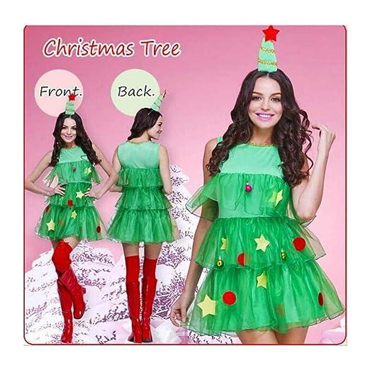 KAIDILA Árbol de Navidad Juego Vestido Verde árbol de Navidad ...