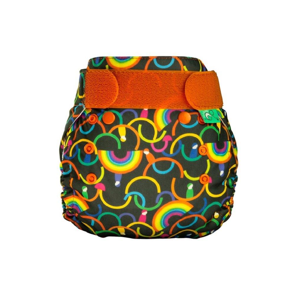 TotsBots PeeNut Rainbeau Reusable Washable Waterproof Wrap Size 1, 6 to 8lbs, for use with Bamboozle Nappies Tots Bots Limited PeeNut Wrap RAINBEAU