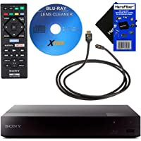 Sony BDP-S3700 Blu-Ray Disc Player with Built-in Wi-Fi + Remote Control, Bundled with Xtech Blu-ray Maintenance Kit + Xtech High-Speed HDMI Cable with Ethernet + HeroFiber Gentle Cleaning Cloth