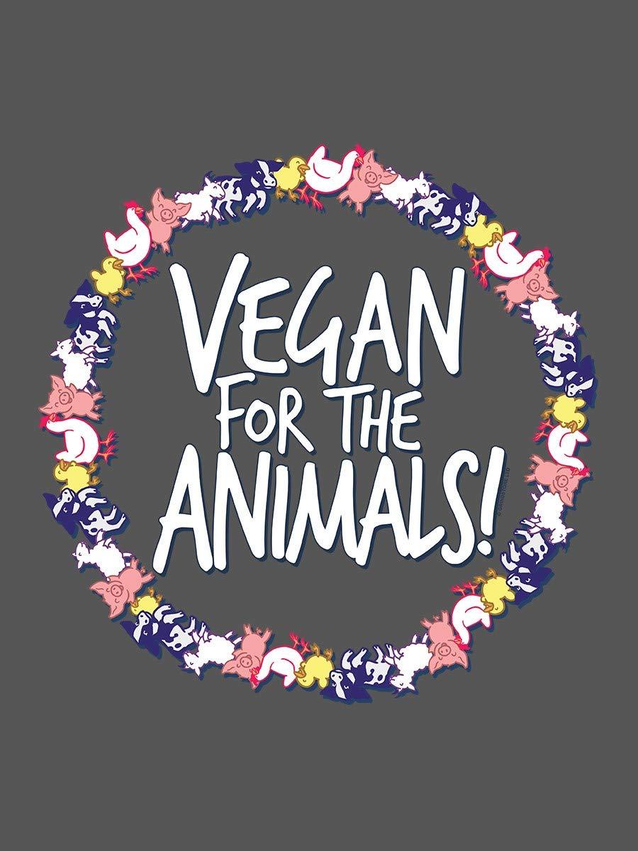 Grindstore Tragetasche Vegan for The Animals 38 x 42 cm grau