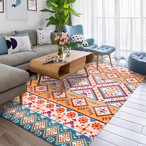 Fashion Geometry Home Rugs - MeMoreCool Nine Patterns No Fading Anti-slipping Simple Style Living Room Tea Table Carpets 79 X 94 (Tea Bag Tiles)
