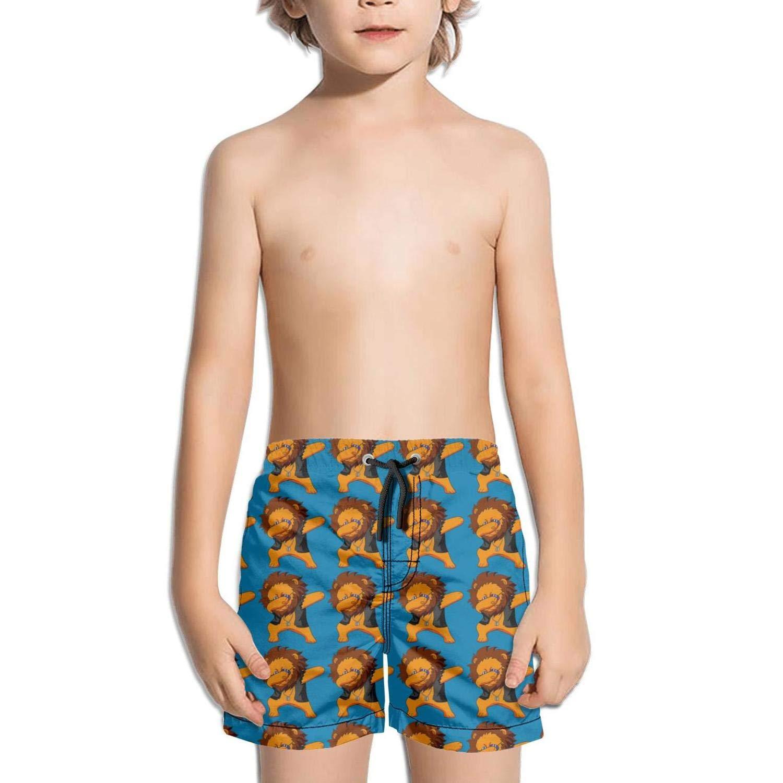 Ouxioaz Boys Swim Trunk Dabbing Emoji Funny Beach Board Shorts