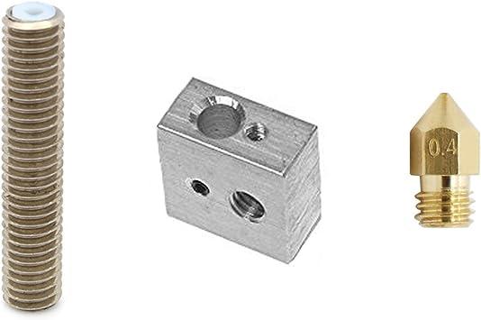 MadridGadgetStore® Kit Hotend Bloque Calentador Aluminio + ...