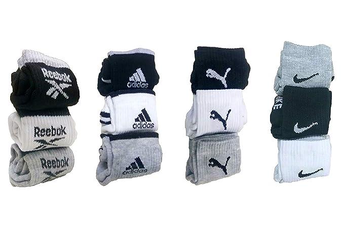 DELHITRADERSS Pack of 12 Pairs Socks Logo Sports Ankle Length Cotton Towel Mens Socks.