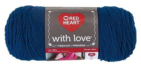 Hilo De Abrigos con Amor corazón Rojo Yarn-Peacock