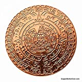 1 Aztec Mayan Calendar One Oz .999 Fine Pure Copper Round