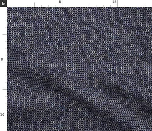 Spoonflower Medieval Fabric - Faux Chainmail Silver/Steel Costume